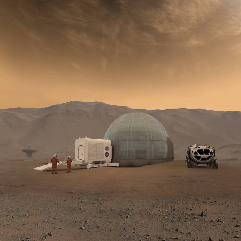 Rendering of the Mars Ice Home concept